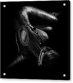 Guitar Woman Acrylic Print by Marian Voicu