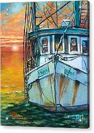 Gulf Coast Shrimper Acrylic Print by Dianne Parks