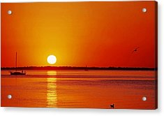Gulf Of Mexico Sunset Acrylic Print
