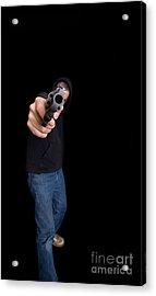 Gun Man Acrylic Print by Edward Fielding