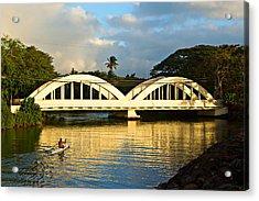 Haleiwa Bridge Acrylic Print