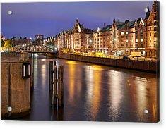 Hamburg Speicherstadt Acrylic Print by Marc Huebner