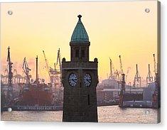 Hamburg Sunset Acrylic Print by Marc Huebner