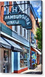 Hamburgers In Indiana Acrylic Print by Mel Steinhauer