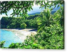 Acrylic Print featuring the photograph Hamoa Beach Hana Maui Hawaii by Sharon Mau