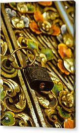 Acrylic Print featuring the photograph Hand Carved Security by T Brian Jones