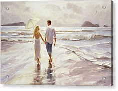 Acrylic Print featuring the painting Hand In Hand by Steve Henderson
