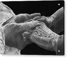 Hands Of Love Acrylic Print by Jyvonne Inman