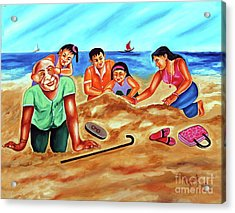 Happy Family Acrylic Print by Ragunath Venkatraman