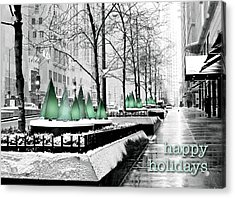 Happy Holidays From Chicago Acrylic Print