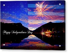 Happy Independence Day Acrylic Print by James BO Insogna