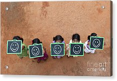 Acrylic Print featuring the photograph Happy Smiley Faces by Tim Gainey
