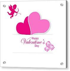 Happy Valentine's Day Acrylic Print by Serena King