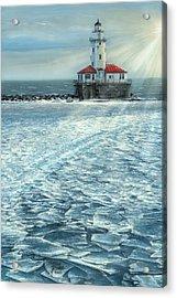 Harbor Light Acrylic Print by Doug Kreuger