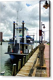 The Elizabeth River Ferry 3 Acrylic Print by Lanjee Chee