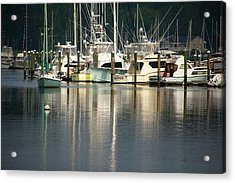 Harbor Reflections Acrylic Print by Karol Livote