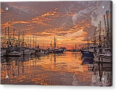 Harboring Reflections Acrylic Print by Brian Wright