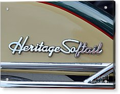 Harley-davidson Heritage Softail Badge Acrylic Print