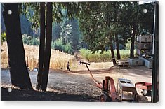 Harvest Time At Apple Hill Acrylic Print by Dawn Marie Black