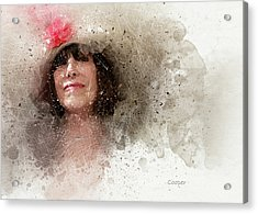 Hat With Rose Acrylic Print