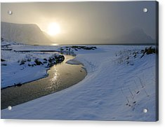 Haukland Beach, Lofoten Acrylic Print