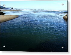 Haystack Rock From Chapman Point Acrylic Print