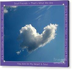 Heart Cloud Sedona Acrylic Print