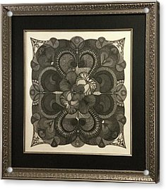 Acrylic Print featuring the drawing Heart To Heart by James Lanigan Thompson MFA