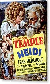 Heidi, Shirley Temple, Jean Hersholt Acrylic Print by Everett