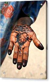 Henna Hand Acrylic Print