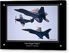 Heritage Flight Acrylic Print by Mathias Rousseau