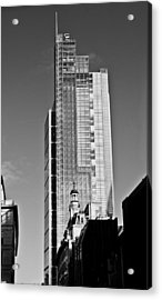 Heron Tower London Black And White Acrylic Print