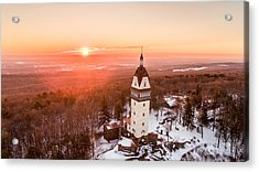 Heublein Tower In Simsbury, Connecticut Acrylic Print by Petr Hejl