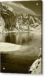 Acrylic Print featuring the photograph Hidden Cove by Pete Hellmann