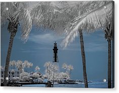 Acrylic Print featuring the photograph Hillsboro Inlet Lighthouse by Louis Ferreira