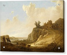 Hilly Landscape With The Ruins Of A Castle Acrylic Print