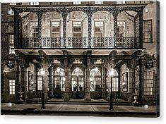 Acrylic Print featuring the photograph Historic Dock Street Theatre by Carl Amoth