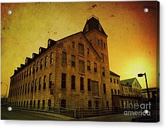 Historic Fox River Mills Acrylic Print by Joel Witmeyer