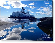 Hollow Rock Reflections Acrylic Print