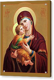 Holy Mother Of God - Blessed Virgin Mary Acrylic Print
