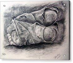 Homeless Feet Acrylic Print