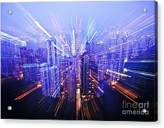 Hong Kong Lights Acrylic Print by Ray Laskowitz - Printscapes