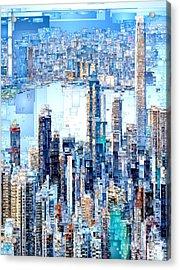 Hong Kong Skyline Acrylic Print