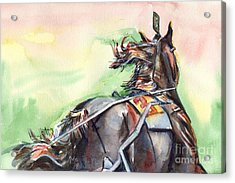 Horse Art In Watercolor Acrylic Print