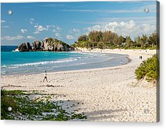 Horseshoe Bay In Bermuda Acrylic Print