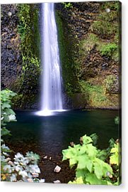 Horsetail Falls Acrylic Print by Marty Koch