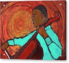 Hot Jazz Acrylic Print by Wayne Potrafka