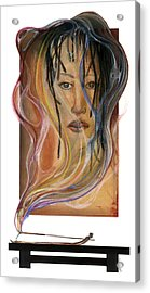 Acrylic Print featuring the mixed media Hot Like Fire by Anthony Burks Sr