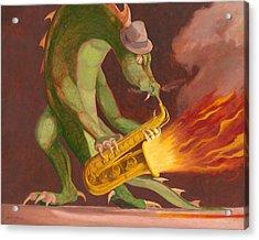 Hot Sax Acrylic Print