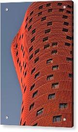Hotel Porta Fira Barcelona Abstract Acrylic Print by Marek Stepan